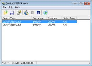 Enlarge Quick AVI MPEG Joiner Screenshot