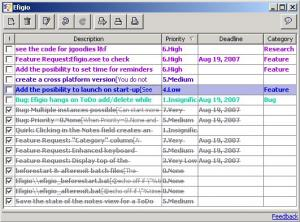Enlarge Efigio Personal Organizer Screenshot