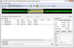 Enlarge Visual MP3 Splitter & Joiner Screenshot
