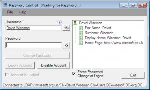 Enlarge Password Control Screenshot