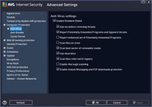 Enlarge AVG Internet Security Screenshot