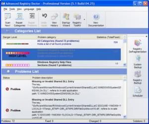 Enlarge Advanced Registry Doctor Lite Screenshot