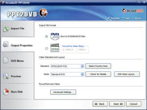 Enlarge Acoolsoft PPT to DVD Pro Screenshot