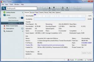 Enlarge Music Torrent Screenshot