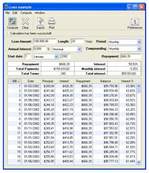 Enlarge Loan Calc Screenshot