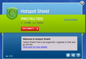 Enlarge Hotspot Shield Screenshot