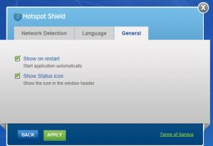 Enlarge Hotspot Shield Screenshot