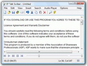 Enlarge EF Talk Scriber Screenshot