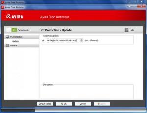 Enlarge Avira Free Antivirus Screenshot