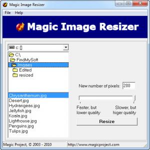 Enlarge Magic Image Resizer Screenshot