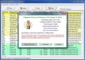 Enlarge Spyware Process  Detector Screenshot