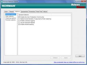 Enlarge Norman Malware  Cleaner Screenshot