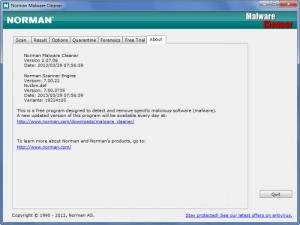 Enlarge Norman Malware  Cleaner Screenshot