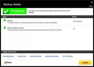 Enlarge Norton  360 Screenshot