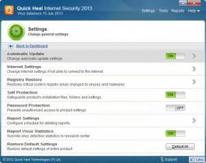 Enlarge Quick Heal Internet Security Screenshot
