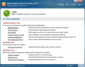 Enlarge Quick Heal Internet Security Screenshot