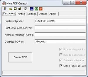 Enlarge Nice PDF  Creator Screenshot