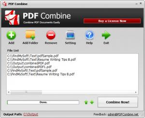Enlarge PDF Combine Screenshot