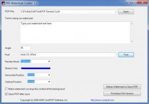 Enlarge PDF Watermark  Creator Screenshot