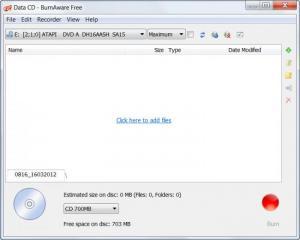 Enlarge BurnAware Free Screenshot
