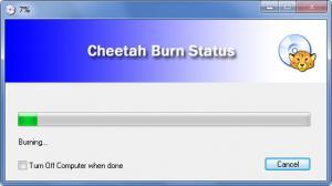 Enlarge Cheetah DVD  Burner Screenshot