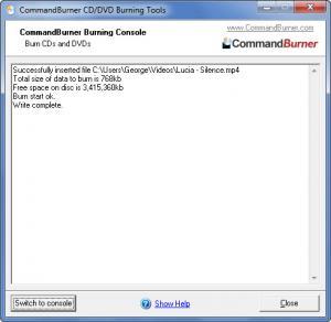 Enlarge CommandBurner Screenshot