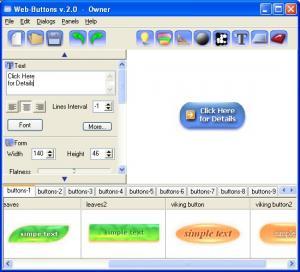 Enlarge Web Buttons Screenshot