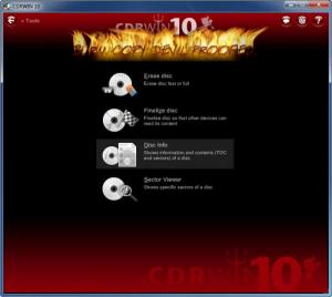 Enlarge CDRWIN Screenshot