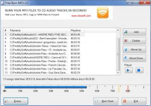Enlarge Free Burn MP3- CD Screenshot
