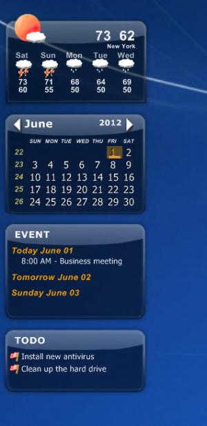 Enlarge Desktop  iCalendar Screenshot