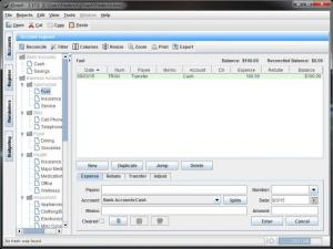 Enlarge jGnash Screenshot