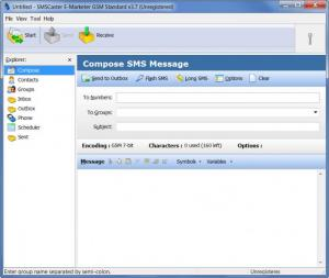 Enlarge SMSCaster E-Marketer GSM Standard Screenshot