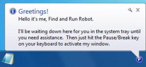Enlarge Find and Run Robot Screenshot