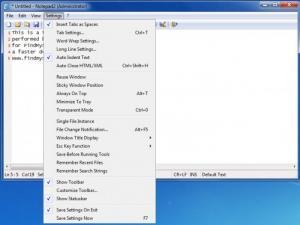 Enlarge Notepad2 Screenshot