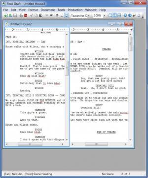 Enlarge Final  Draft Screenshot
