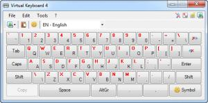 Enlarge Virtual  Keyboard Screenshot