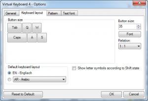 Enlarge Virtual  Keyboard Screenshot