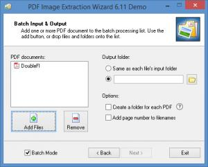 Enlarge PDF Image Extraction  Wizard Screenshot
