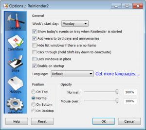 Enlarge Rainlendar Lite Screenshot