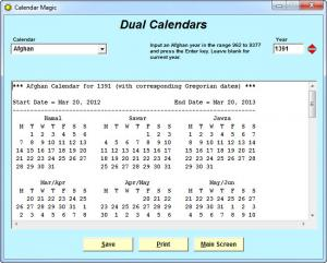 Enlarge Calendar  Magic Screenshot