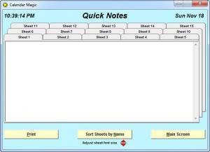 Enlarge Calendar  Magic Screenshot