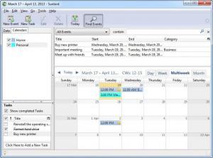 Enlarge Mozilla  Sunbird Screenshot