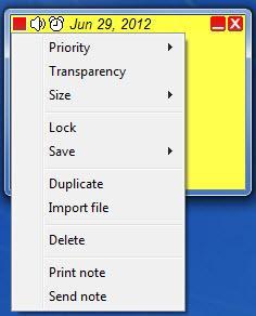 Enlarge StickyNotes Screenshot