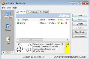 Enlarge AniReminder Screenshot