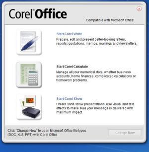 Enlarge Corel Office Screenshot