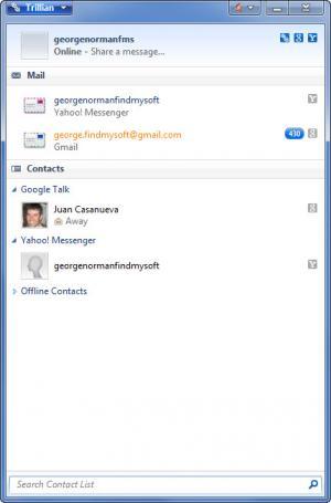 Enlarge Trillian Screenshot
