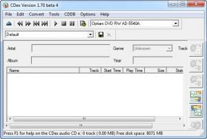 Enlarge CDex Screenshot