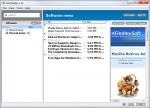 Enlarge Feedreader Screenshot