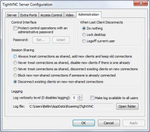 Enlarge TightVNC Screenshot