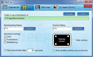 Enlarge Fraps Screenshot